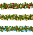 Christmas Borders Set 4 vector image vector image