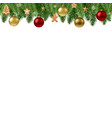 christmas branch border vector image vector image