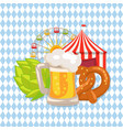 closeup white of beer food vector image vector image