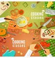 Cooking Classes Top View vector image vector image