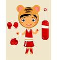 cute girl tiger vector image