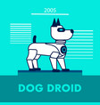 dog droid promotion flat banner template vector image vector image