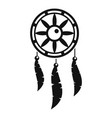 dream catcher icon simple style vector image