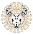 entangle stylized animal skull on gypsy mandala vector image vector image