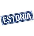 estonia blue square stamp vector image vector image
