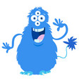 fantasy monster character cartoon vector image