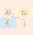 father and daughter relationship vector image vector image