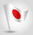 flag japan vector image vector image