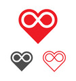 forever love logo template heart infinity vector image vector image