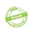 fresh healthy food logo vector image vector image