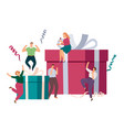 gift boxes and friends vector image