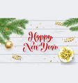 happy new year golden decoration greeting card vector image vector image