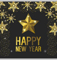 happy new year with star decoration vector image