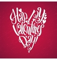 Happy Valentines Day lettering background Heart vector image vector image
