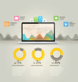 Infographics elements Computer laptop notebook c vector image vector image