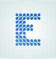 letter e logo halftone icon vector image vector image