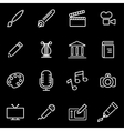 line art icon set vector image