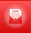 love icon red envelope romantic envelope envelope vector image