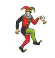 medieval jester sketch vector image vector image