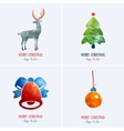 Merry Christmas card decoration Happy New Year vector image vector image