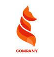 modern fox logo vector image vector image