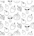 Monochrome Autumn Seamless Pattern vector image vector image