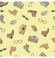 pattern of fashionable men accessories vector image