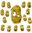 potato cartoon vector image vector image