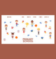 primary school website design vector image