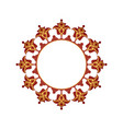 red and golden ornamental motifs for writing vector image