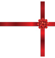 Red holiday bow2 vector image vector image