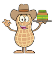 Royalty Free RF Clipart Cowboy Peanut Cartoon vector image vector image
