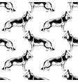 seamless pattern with hand drawn german shepherds vector image vector image