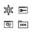 search engine optimization simple related icons vector image vector image