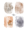 set art autumn watercolor and doodle vector image vector image