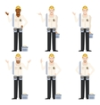 Set of Electricians3 vector image vector image