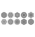 set of flower mandala vintage decorative elements vector image vector image