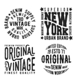 Set of vintage stamp vector image vector image