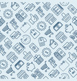 shopping seamless pattern with thin line icons vector image vector image