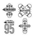 Skateboard and longboard badges vector image vector image