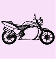 sport motorcycle vector image vector image