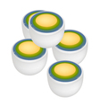 Stack of Thai Dessert of Layer Coconut Pudding vector image vector image