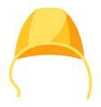 stylized of baby cap image vector image