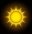 Summer sun cartoon vector image vector image