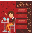template for menu brochure vector image vector image