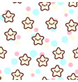 the cute stars with the vector image vector image