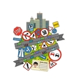 Traffic Signs And Regulations vector image vector image