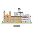 trencin city in western slovakia vector image vector image