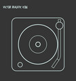 turntable icon line element vector image