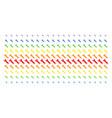 wrench shape halftone spectrum grid vector image